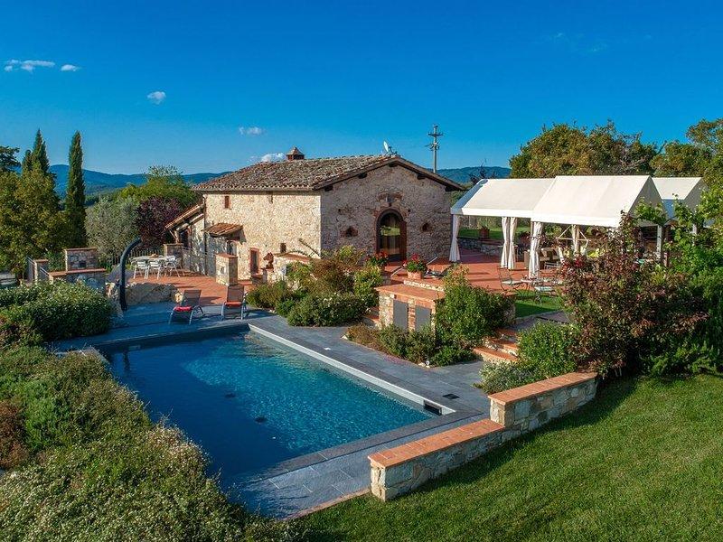 Il Poggio, Gaiole in Chianti, Siena and Chianti, location de vacances à Lecchi in Chianti