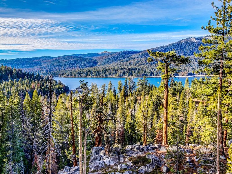 Dog-friendly cabin w/ game room & huge deck - 3 miles to Shaver Lake, holiday rental in Auberry