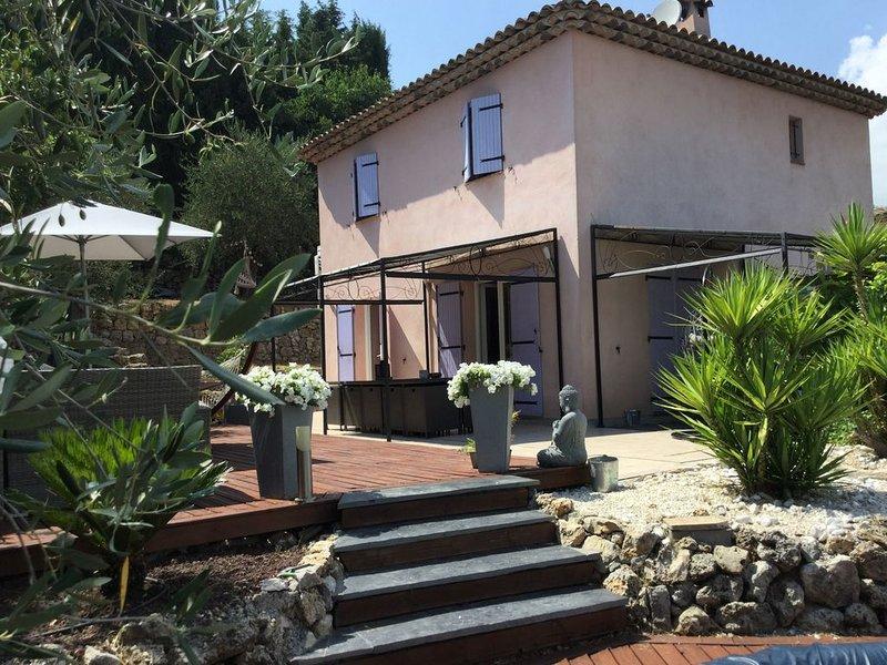 jolie villa à Grasse St Antoine, location de vacances à Grasse