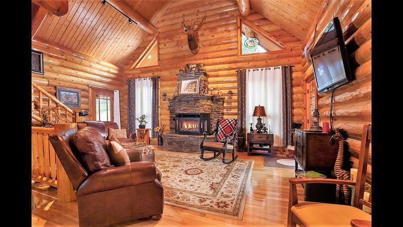 Large family cabin private serene by Mt Rushmore Keystone small group discounts, vacation rental in Hermosa