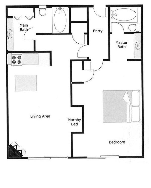 Floor Plan - 725 sq ft