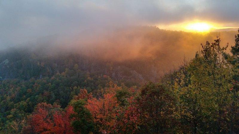 And the Carolina Blue Ridge Mountain High. I've seen it rainin' fire in the sky!