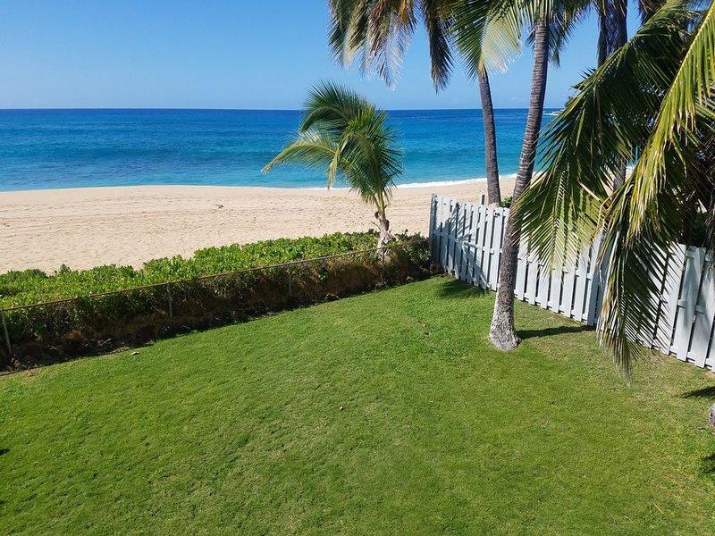 Porte à la plage de notre cour avant.