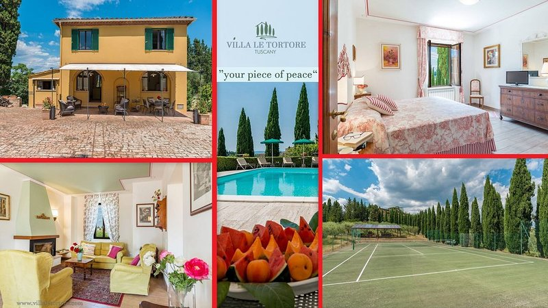 Villa private-pool, tennis, relaxing, rural, near 'Piazza il Campo', Siena,, holiday rental in Siena