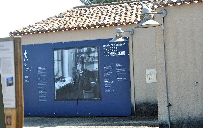 Casa de Georges Clémenceau em Saint vincent sur jard