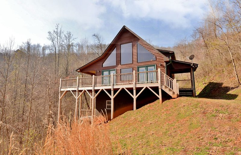 Spacious 3/3 Cabin - Mountain Views , HOT TUB, Game Room & Wi-Fi!, holiday rental in Murphy