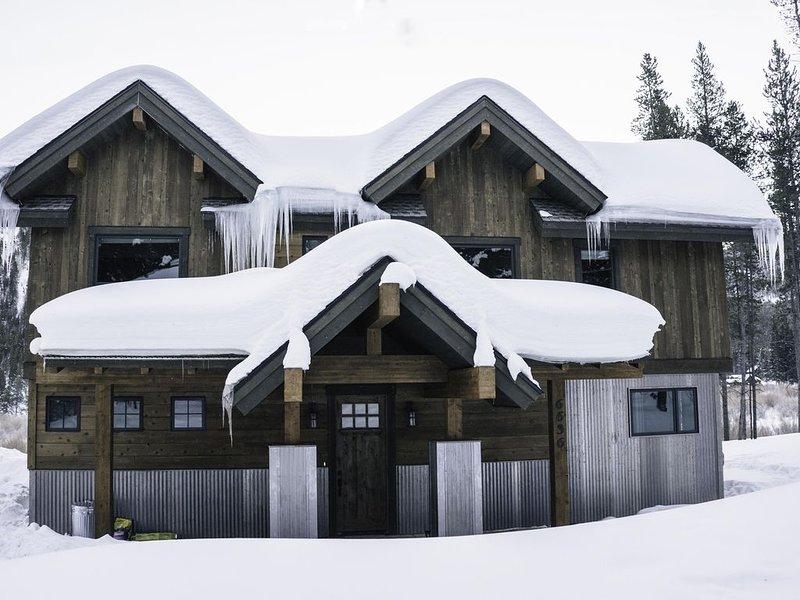 Una casa de campo invernal de 10 km.