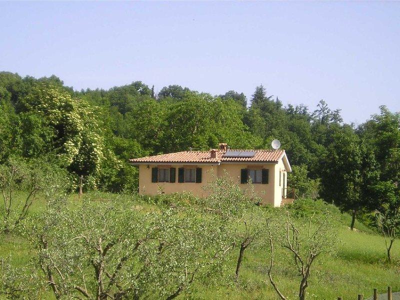 A comfortable nice cottage in the quiet hills between Siena and San Gimignano, alquiler de vacaciones en Montalcinello