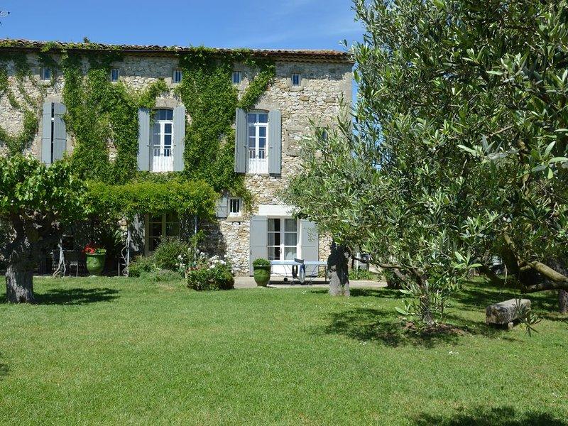 Profitez de la piscine et du spa de cette ancienne magnanerie rénovée avec soin, holiday rental in Dions