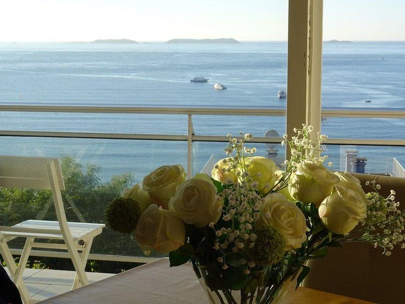 MAGNIFIQUE VUE MER à Perros Guirec: Archipel 7 Îles, plage, pointe de ploumanach, location de vacances à Perros-Guirec