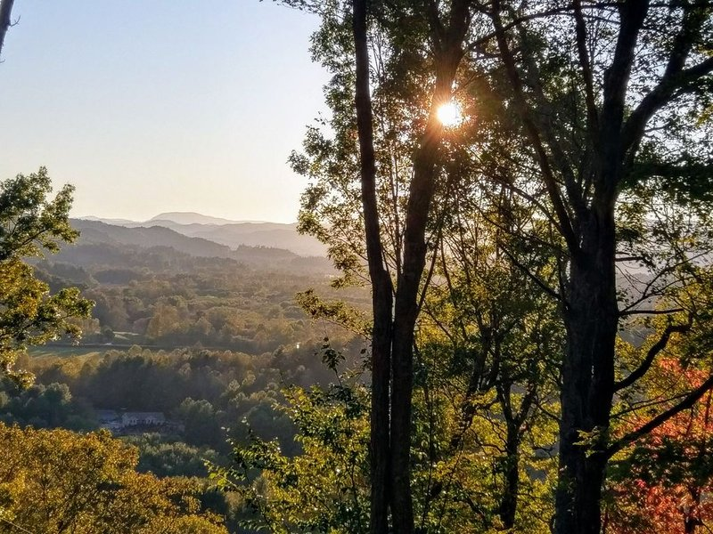 Treehouse with stunning view from every room; private, yet convenient, holiday rental in Penrose