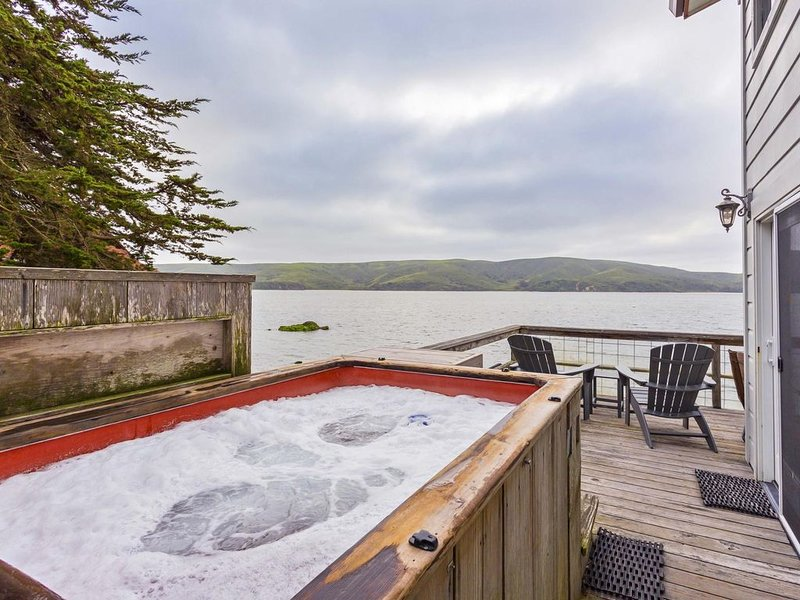 Hot tub for chilly evenings