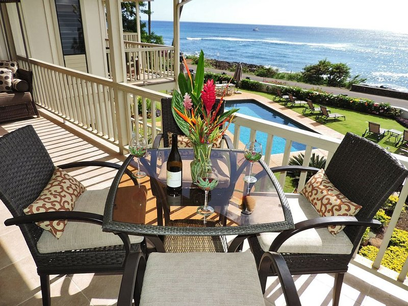 Alihi Lani 4: Full A/C - top floor Ocean Views!  * Remodeled * Pool, Ferienwohnung in Koloa