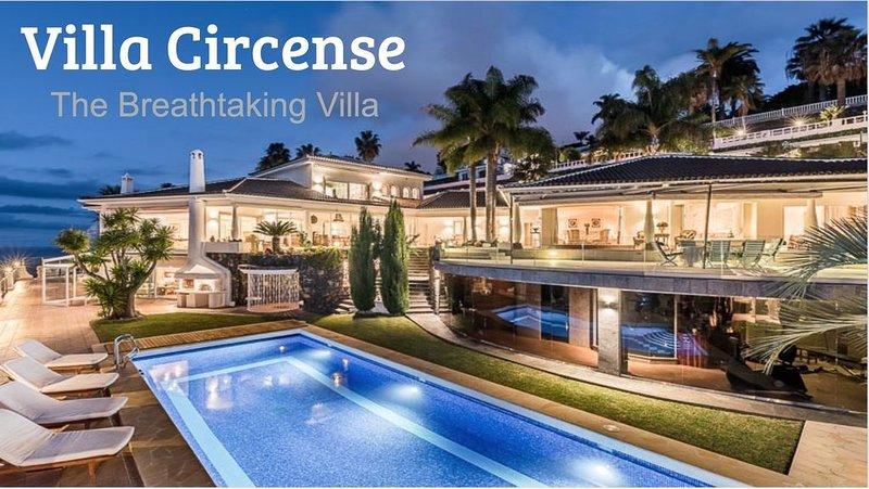 Luxury villa stunning ocean view, heated private pool  white sand beach Tenerife, holiday rental in Cuesta de la Villa