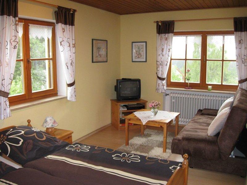 Gemütliche Ferienwohnung mit Panoramablick und großem Garten, vacation rental in Zandt