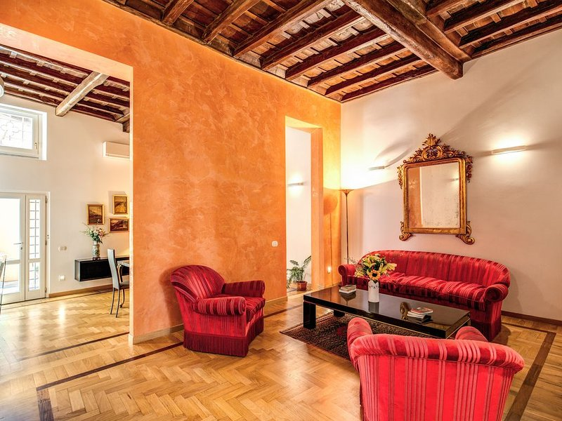 Spacious apartment, three bedrooms, three private bathrooms at the Fountain, holiday rental in Ladispoli
