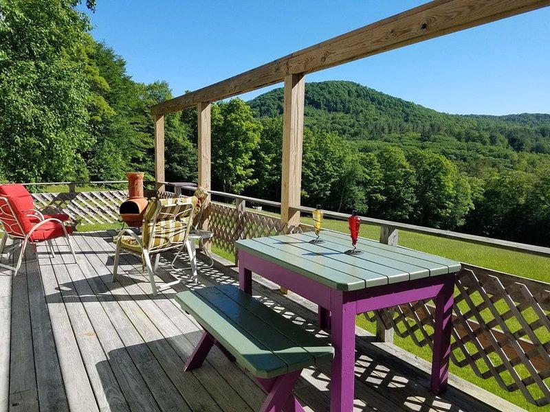 Vermont Hillside Cottage w/Great View - Pet Friendly, casa vacanza a Weston
