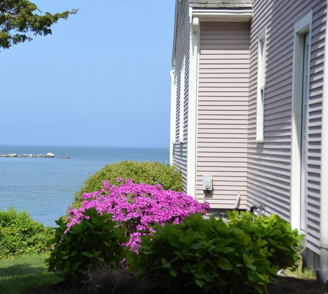 From the driveway! Ocean views are everywhere.