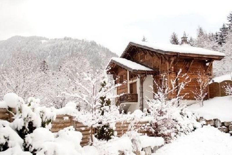 Grand chalet avec terrasse, jacuzzi et sauna très bien situé à 2km du centre, holiday rental in Montriond