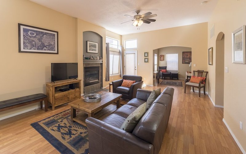 Our open floor plan makes for an inviting setting to relax with family & friends
