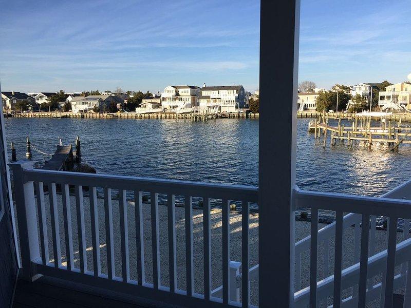 Bayfront with 70' dock *Harris Harbor, Beach Haven Park, Long Beach Island, N.J., holiday rental in Long Beach Island