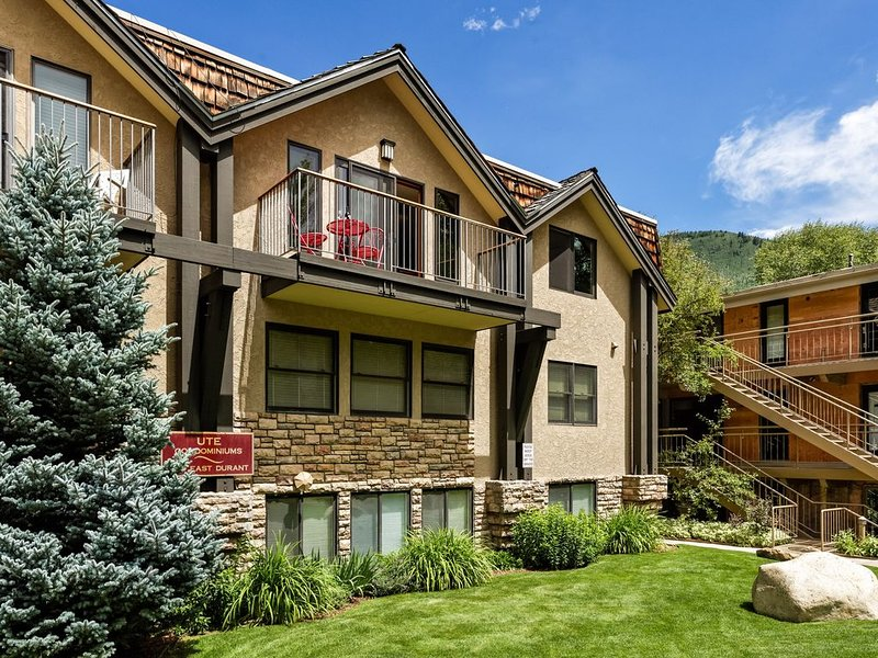 Incredible views in open 2 bedroom condo in Aspen Core! Walk to Gondola., holiday rental in Aspen