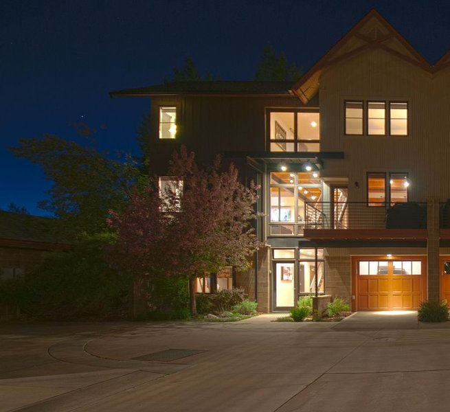 Our place at night!