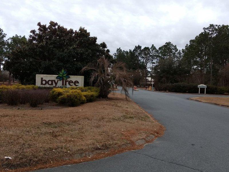 Entrée de la communauté fermée de Bay Tree Lakes