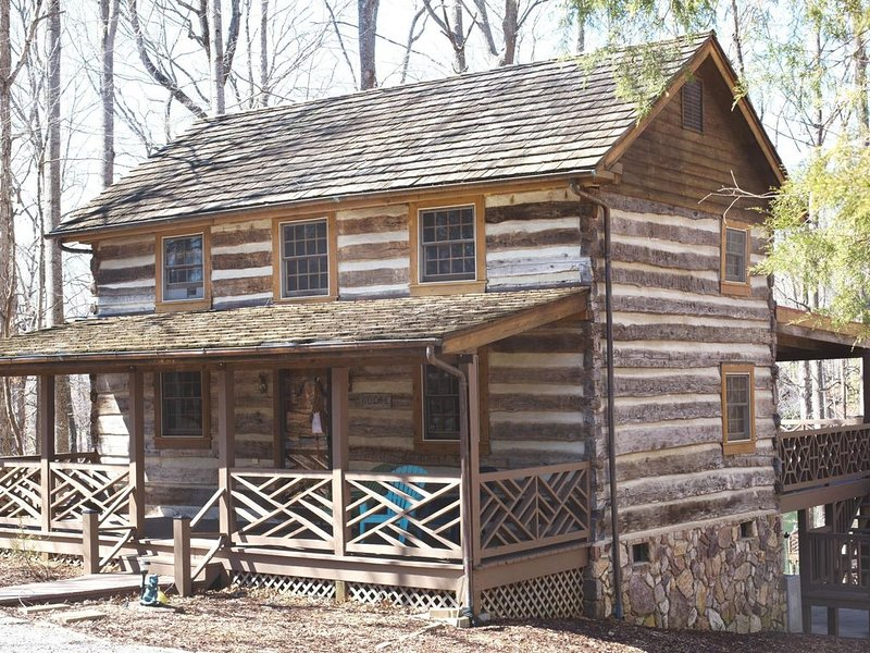 Authentic chinked log cabin constructed with logs over 180 years old!
