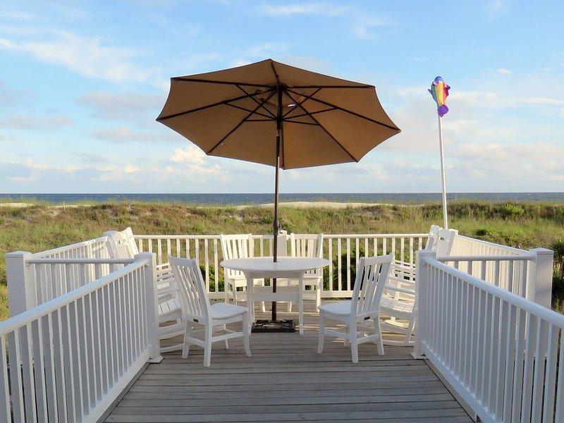Meilleur endroit pour se détendre sur le pont (avec parasol pour les pauses ombragées)
