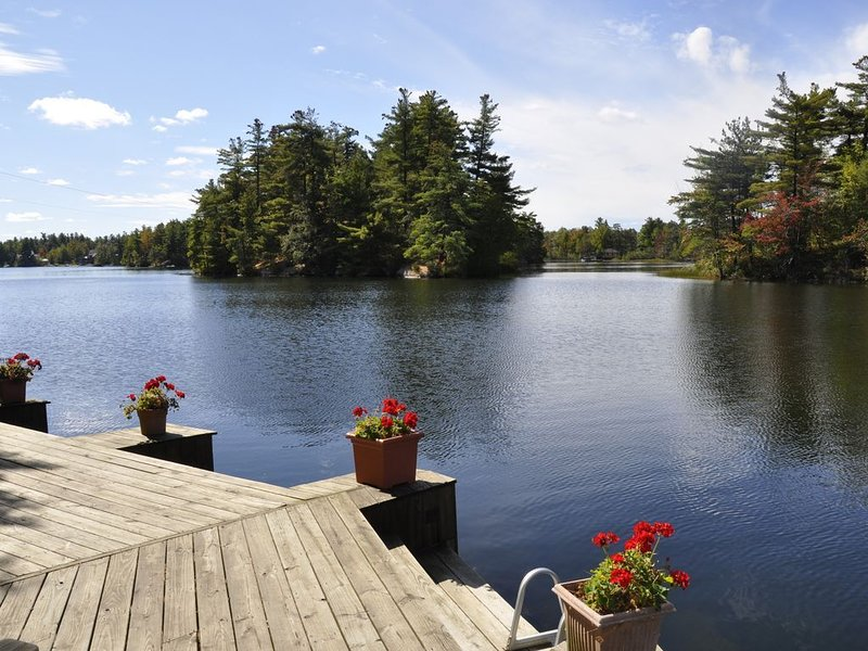 Lakeside Cabin with Great Views, Exceptional Waterfront, and Motorboat., holiday rental in Hermon