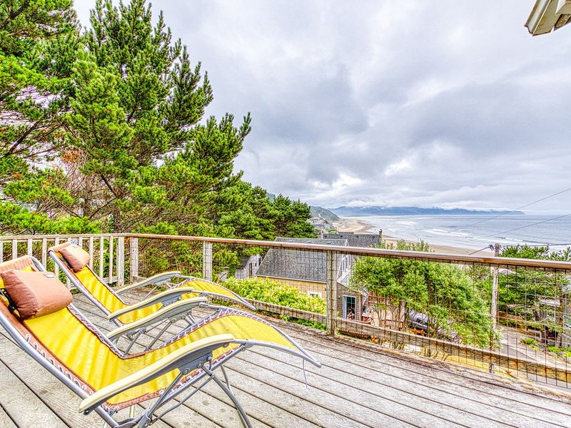 Hillside home w/ exceptional ocean view & deck - near the beach, 2 dogs OK!, holiday rental in Cape Meares