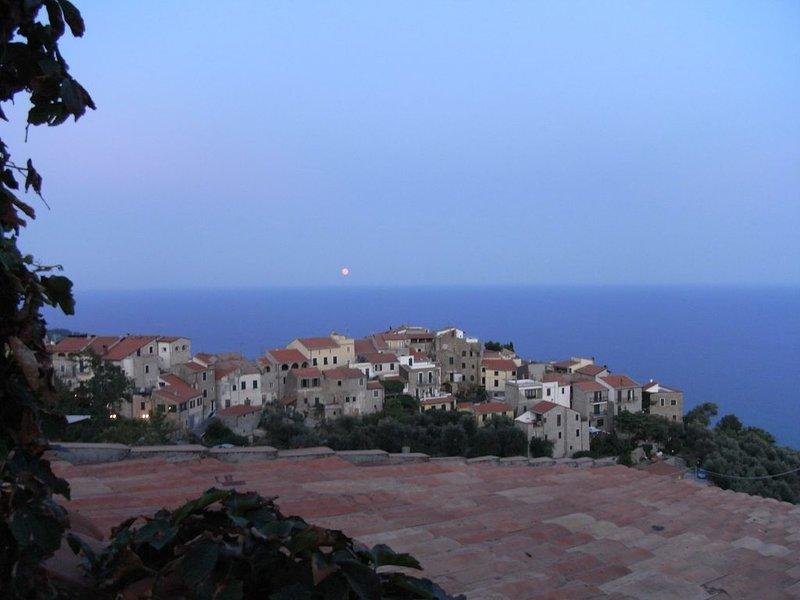 Evening mood terrace