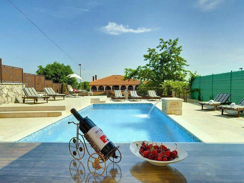 Schöne Villa bei Rovinj mit privatem Pool, Waschmaschine, Klima, WLAN, Terrasse, holiday rental in Rovinjsko Selo