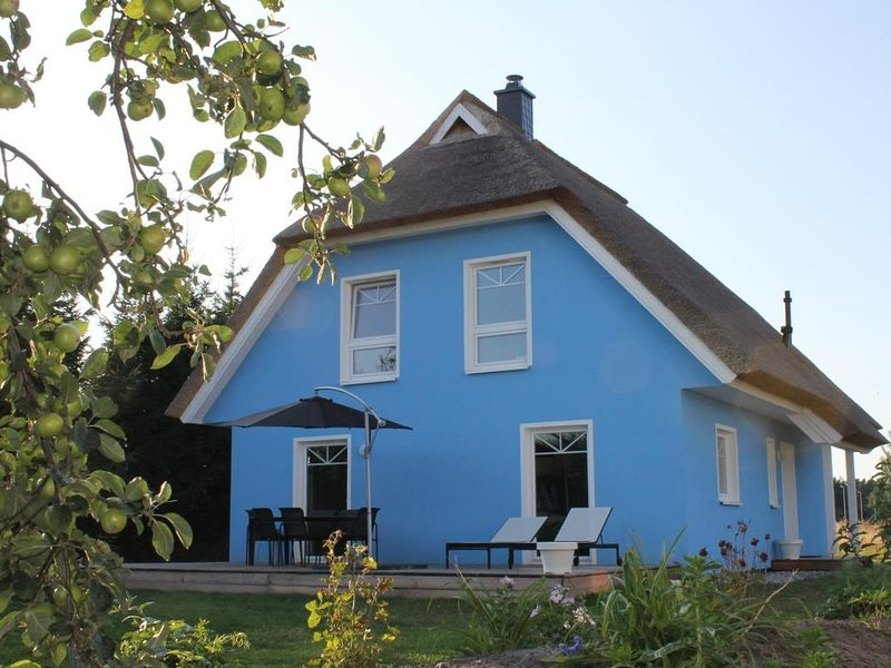 De niege Leive - reetgedecktes komfortables FH fuer 6 Per., Terasse, Garten, Gri, vacation rental in Born