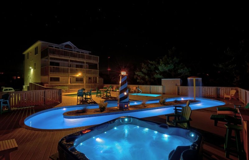Private lazy river, regular&kiddie pool. Oceanfront, Elevator, casa vacanza a Rodanthe