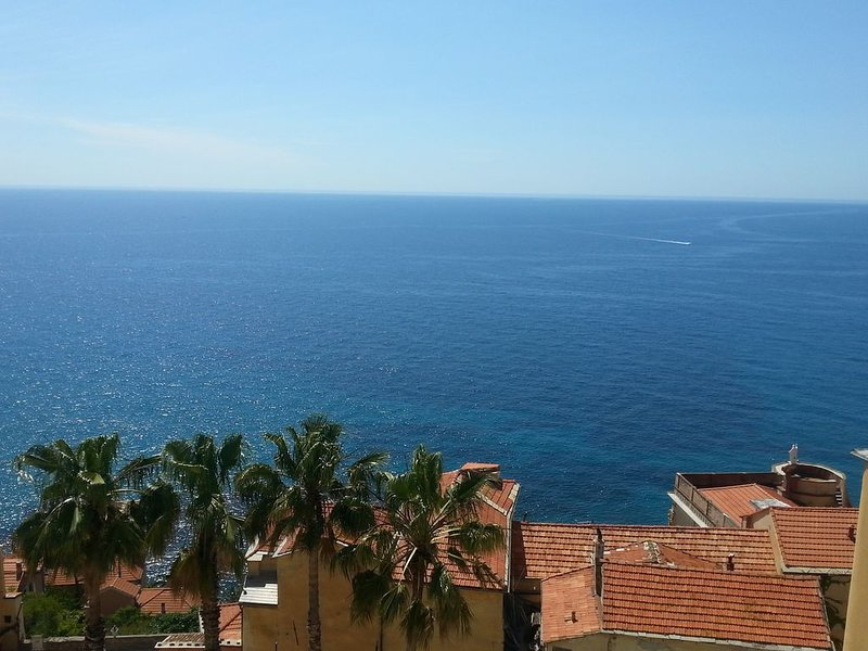 Attico al Parasio con ampio terrazzo e splendida vista sul mare, holiday rental in Imperia