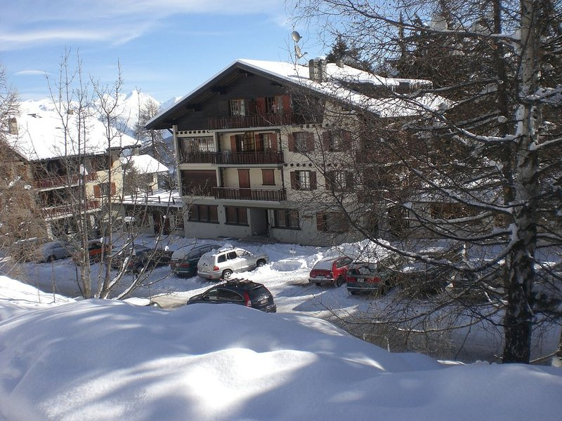 Appartement de 3 chambres à 250 m des pistes, 2 balcons très lumineux, parking, holiday rental in Heremence