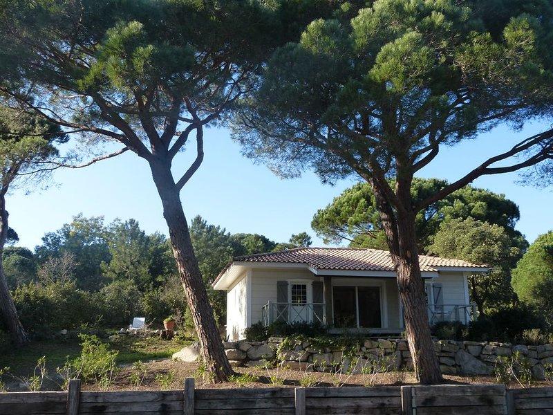 Maison en bois avec jardin à 7 km de St Tropez 6 pers/ 3 chambres proxi  plages, holiday rental in Cogolin