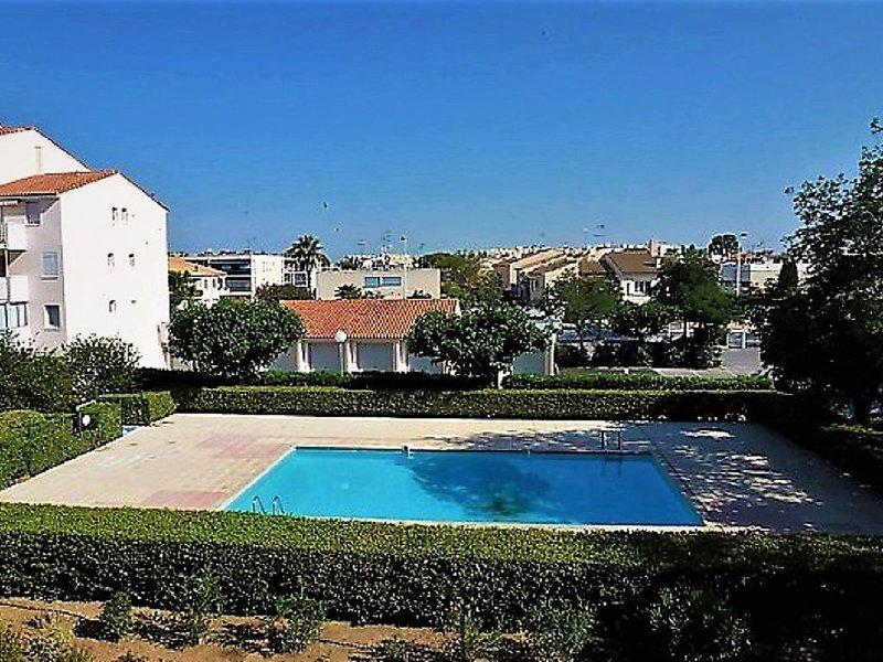 Bien situé, appartement résidentielle avec piscine privée et parking., alquiler vacacional en Le Grau-du-Roi