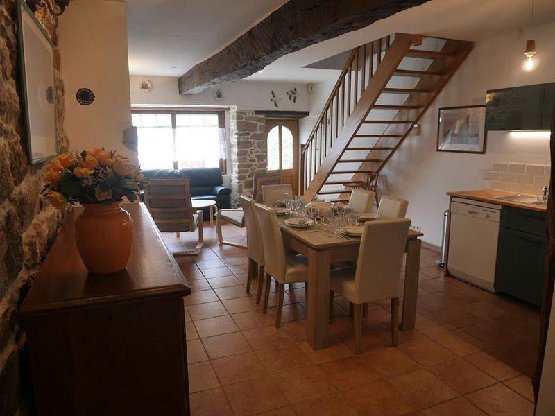 Gîte classé 3* tout confort au Logeo, petit port du Golfe du Morbihan + WIFI, aluguéis de temporada em Morbihan