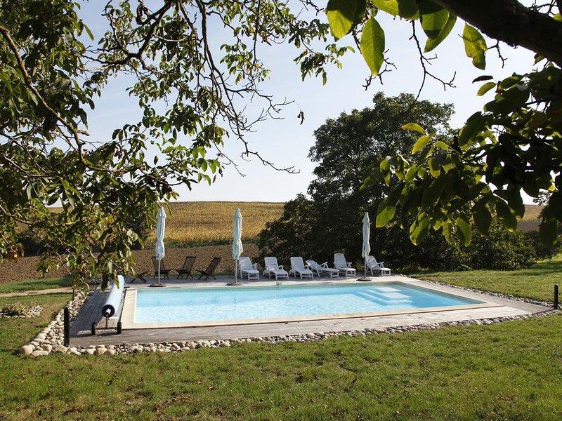a piscina vista do terraço
