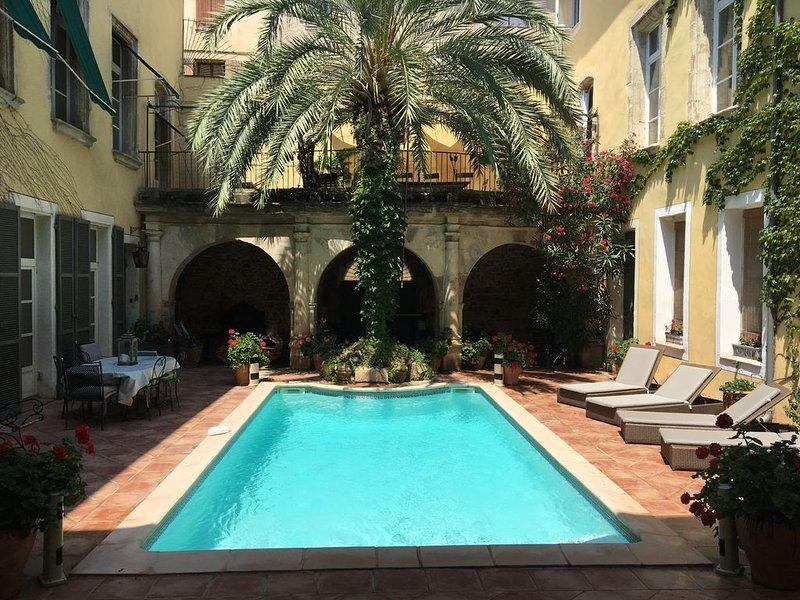 HOTEL PARTICULIER  XVII Siecle CENTRE HISTORIQUE DE NARBONNE.PISCINE, vacation rental in Narbonne