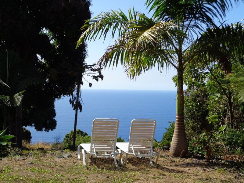 Tropical Romantic S. Kona Cottage with Incredible Oceanview, location de vacances à Captain Cook