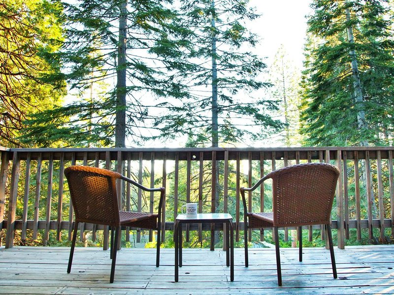 Your View With Your Morning Java. Deck Off Living Room
