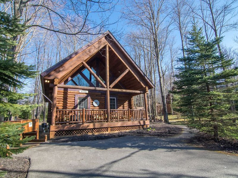 Quaint and So Cozy Deep Creek Lake Log Cabin in Sought After Yellowstone Village, location de vacances à Oakland