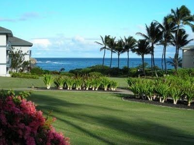 Ocean Views from this 2 bdrm/2 Bath Ground Floor Family Friendly Condo, Ferienwohnung in Koloa
