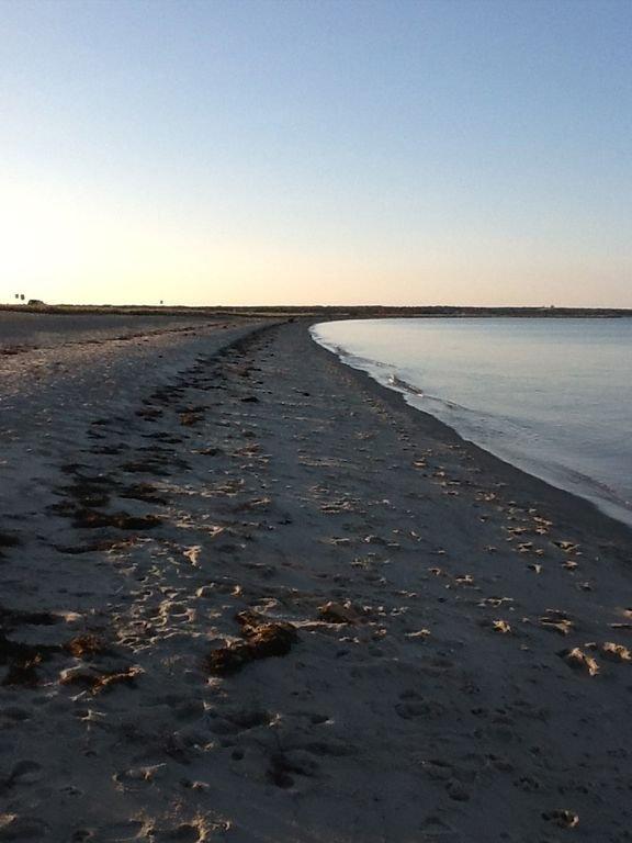 Martha's Vineyard State Beach au début de la soirée d'automne.