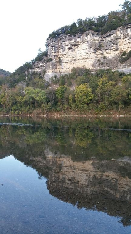 Bluff reflected in the river