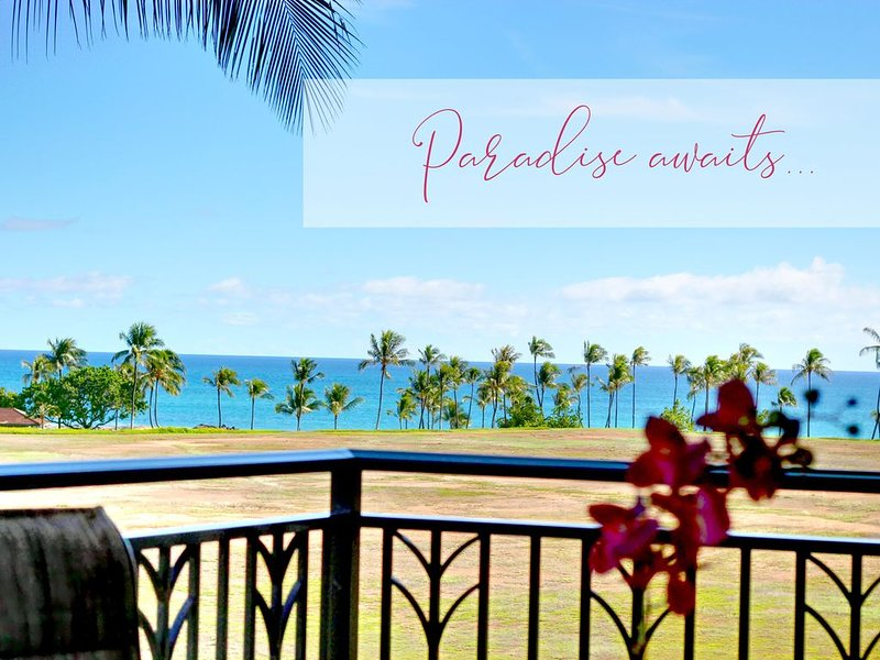 Early HOLIDAY Discount on the beach! ��️ O421 End unit, location de vacances à Kapolei